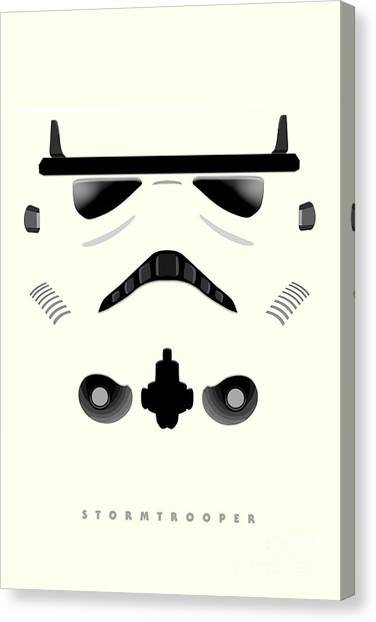 Leia Organa Canvas Print - Star Wars - Stormtrooper by Luca Oleastri