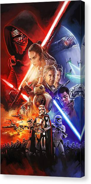 Jedi Canvas Print - Star Wars The Force Awakens Artwork by Sheraz A