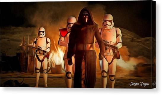 Win Canvas Print - Star Wars The Force Awakens - Da by Leonardo Digenio