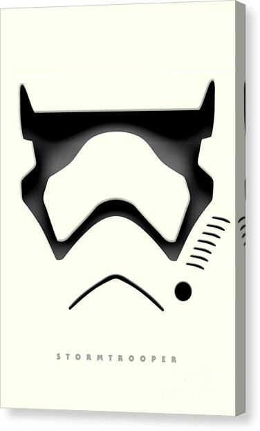 Leia Organa Canvas Print - Star Wars The Force Awakens - Stormtrooper by Luca Oleastri