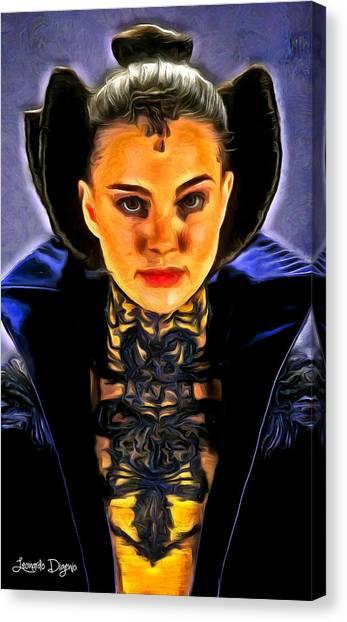 Padawan Canvas Print - Star Wars The Queen - Da by Leonardo Digenio