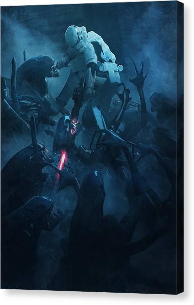 Stormtrooper Canvas Print - Star Wars Vs Aliens 2 by Exar Kun