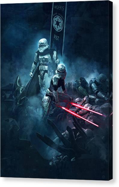 Stormtrooper Canvas Print - Star Wars Vs Aliens 4 by Exar Kun