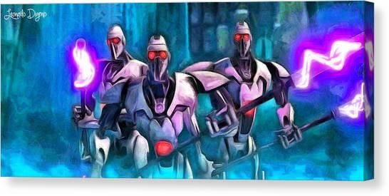 Fighters Canvas Print - Star Wars Warrior Droids by Leonardo Digenio