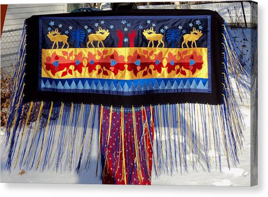 Canvas Print featuring the tapestry - textile Star Whistling by Chholing Taha
