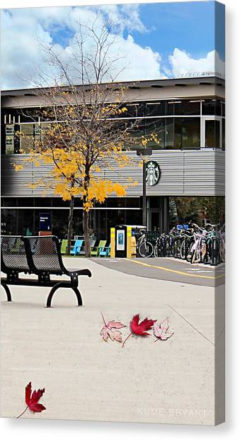 Northern Arizona University Nau Canvas Print - Starbucks At Nau by Kume Bryant