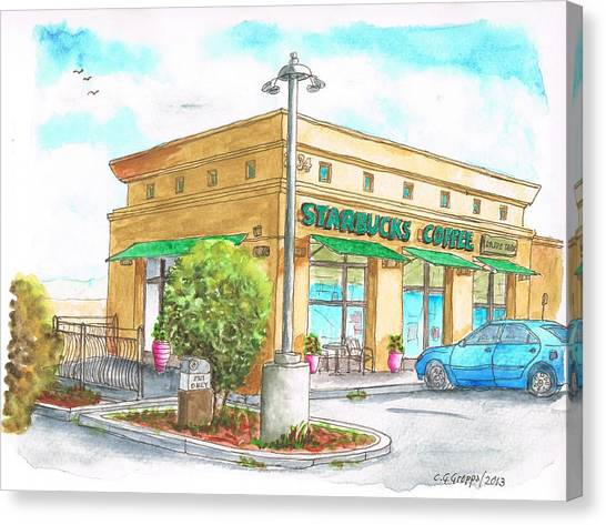 Starbucks Coffee In Barstow - Ca Canvas Print