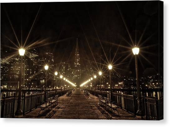 Starburst Lights Canvas Print