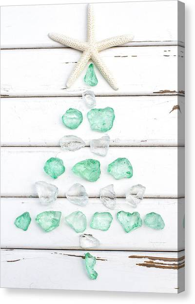 Christmas Tree Canvas Print - Starfish Christmas Tree by Terry DeLuco