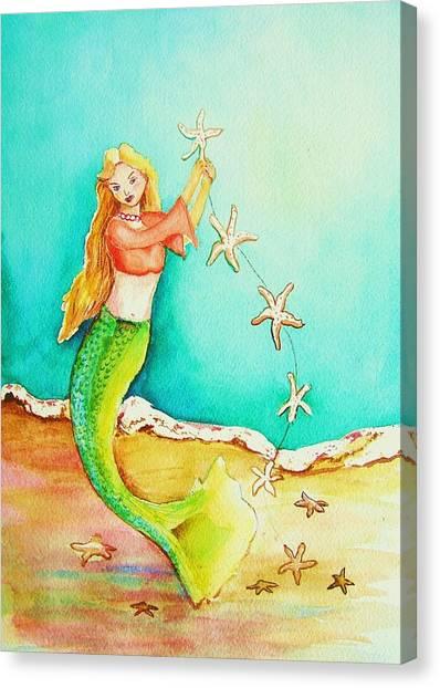 Starfish Mermaid Canvas Print