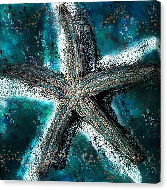 Starfish Ocean Deep Canvas Print
