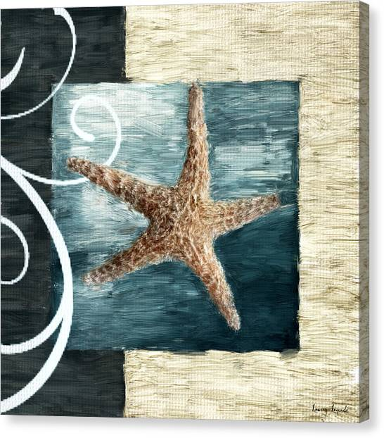 Cottage Style Canvas Print - Starfish Spell by Lourry Legarde