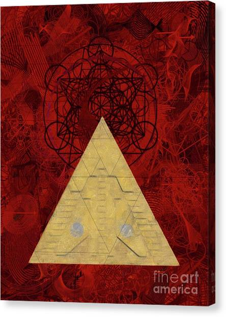 Egyptian Art Canvas Print - Stargate Of The Occult by Pierre Blanchard