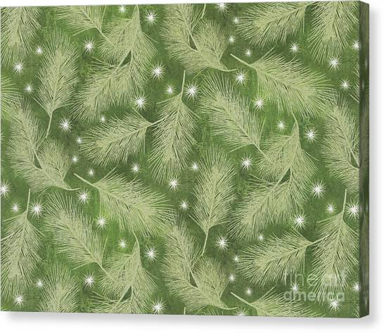 Silver Moonlight Canvas Print - Starlight Christmas Viii by Mindy Sommers