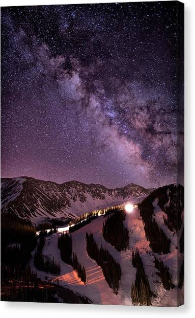 All Star Canvas Print - Starlight Mountain Ski Hill by Mike Berenson