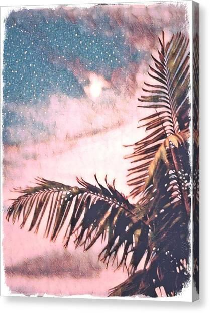 Starlight Palm Canvas Print