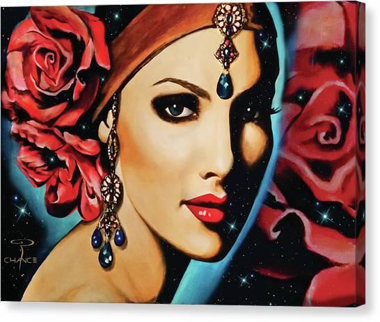 Starlight Rose Canvas Print