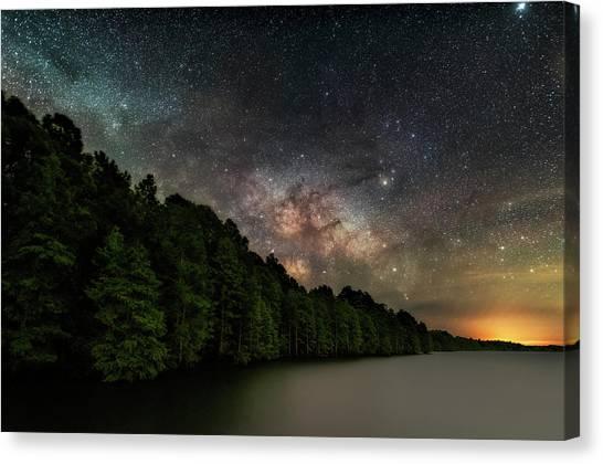 Starlight Swimming Canvas Print