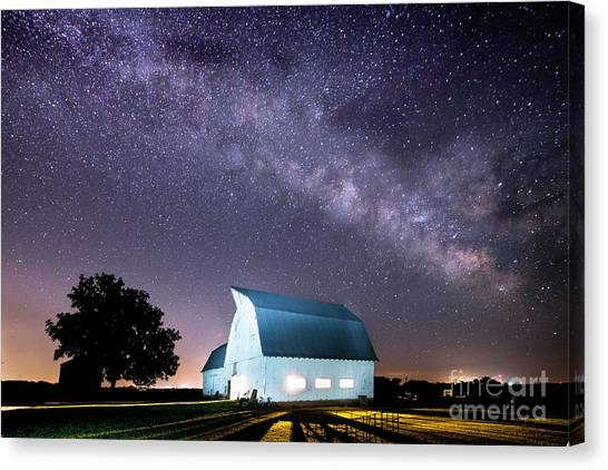 Starry Night At Kelsey Creek Farm Canvas Print