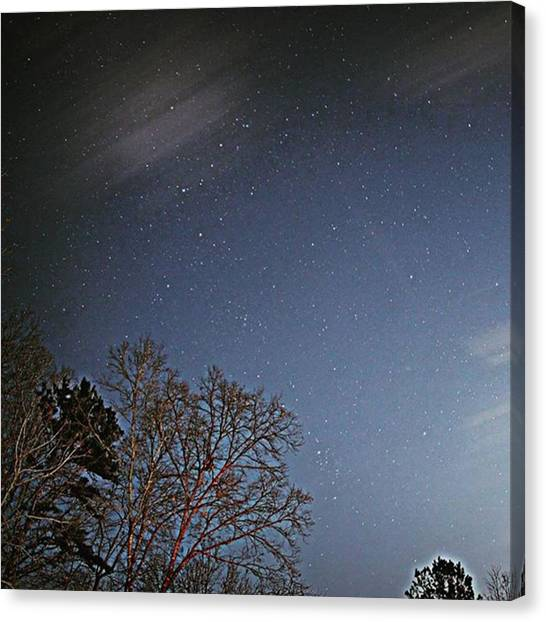 Starry Night Canvas Print - Starry Night #december #stars by Gold Fox Photography