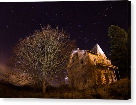 Starry Night Farmhouse Canvas Print