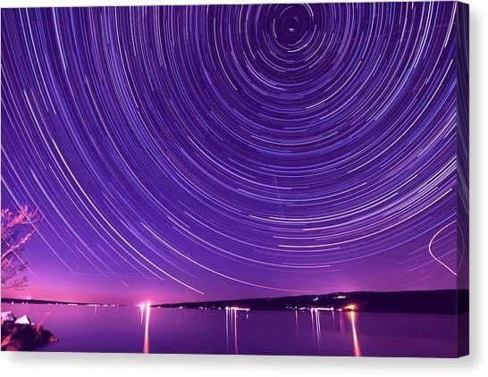 Starry Night Of Cayuga Lake Canvas Print
