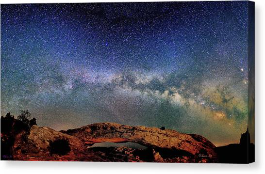 Starry Night Over Mesa Arch Canvas Print