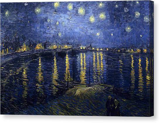 Starry Night Over The Rhone Canvas Print