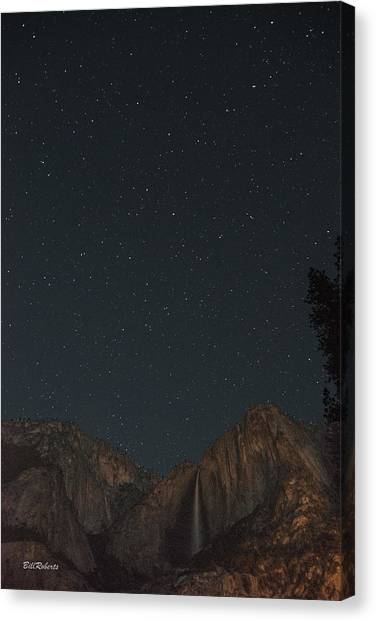 Yosemite Falls Canvas Print - Starry Night Over Yosemite Falls by Bill Roberts