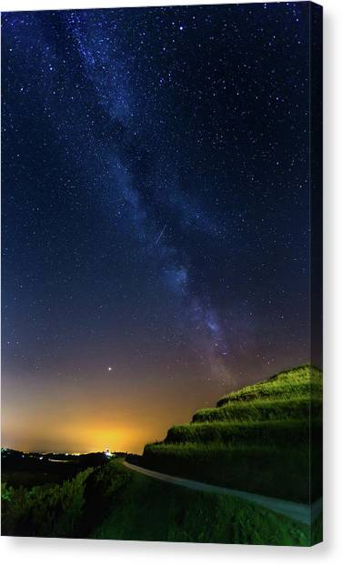 Canvas Print featuring the photograph Starry Sky Above Me by Davor Zerjav