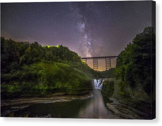 Starry Sky At Letchworth Canvas Print