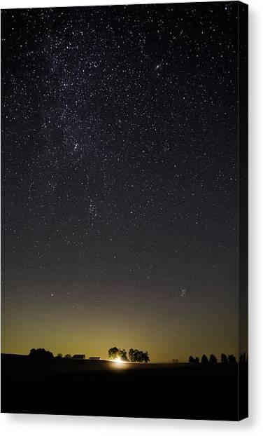Starry Sky Over Virginia Farm Canvas Print