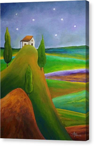 Starry Summer Night Canvas Print