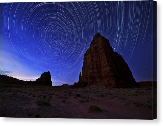Night Lights Canvas Print - Stars Above The Moon by Chad Dutson