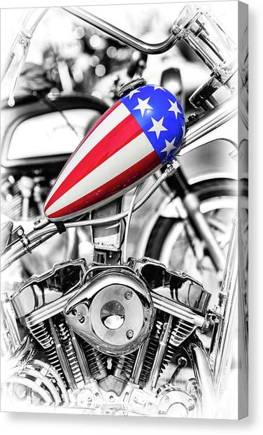 Choppers Canvas Print - Stars And Stripes by Tim Gainey