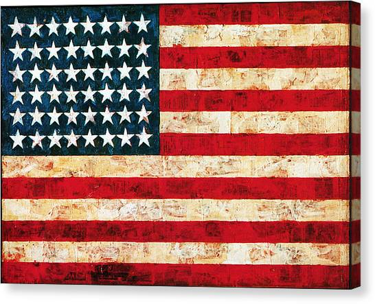 Jasper Johns Canvas Print - Stars And Stripes by Vagabond Folk Art - Virginia Vivier