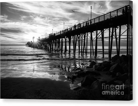 Stars And Swirls In Oceanside Canvas Print