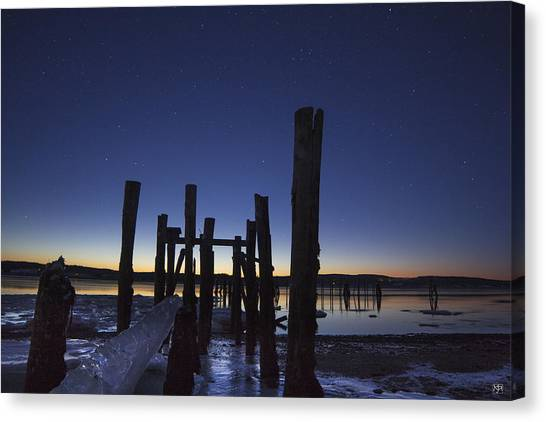 Stars At Sandy Point Sunrise  Canvas Print