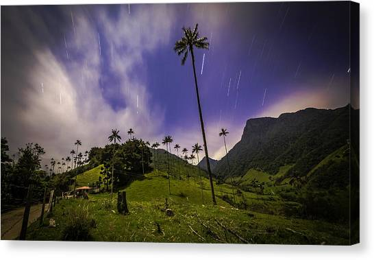 Stars In The Valley Canvas Print