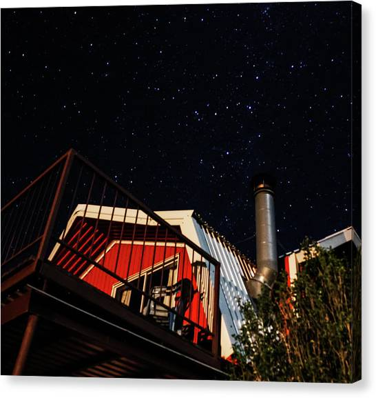 Stars Over Gila Cottage Canvas Print