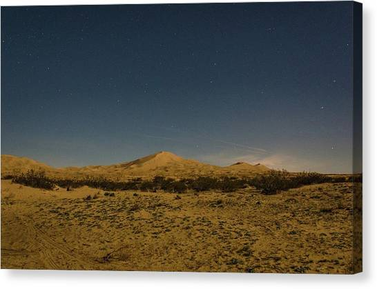 Stars Over Kelso Dunes Canvas Print
