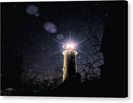 Stars Over Nobska Lighthouse Canvas Print