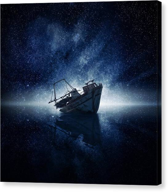 Space Ships Canvas Print - Stars by Zoltan Toth