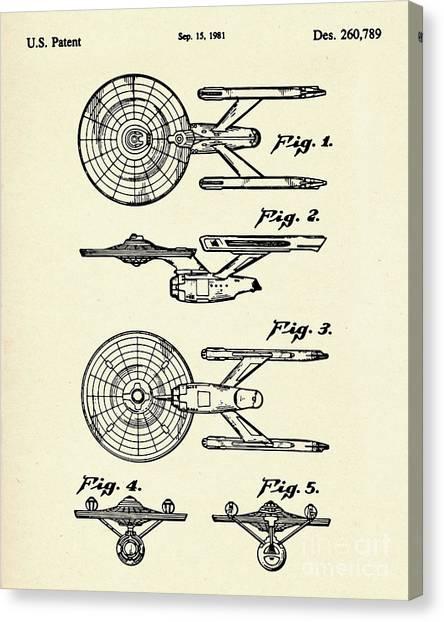 Starship Enterprise Canvas Print - Starship Enterprise Star Trek-1981 by Pablo Romero
