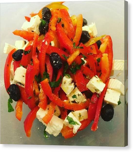 Salad Dressing Canvas Print - Start #fresh Into The #newweek by Selda Cankaya