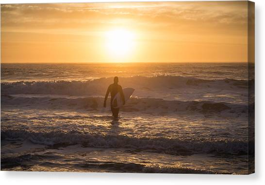 Start The Day Surfing Canvas Print