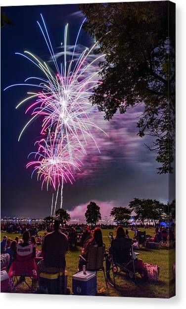 University Of Wisconsin - Madison Canvas Print - Starting Off With A Bang by Vincent Buckley