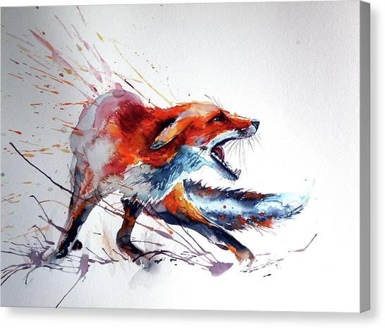 Startled Red Fox Canvas Print
