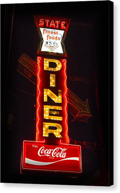 Cornell University Canvas Print - State Diner - Ithaca Ny by Stephen Stookey