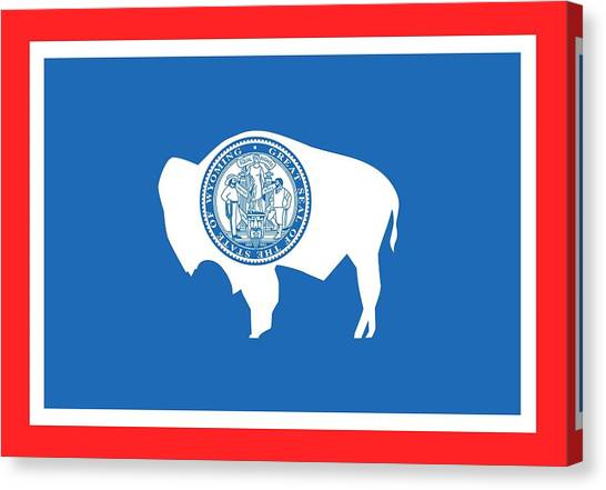Wy Canvas Print - State Flag Of Wyoming by American School